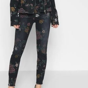 7 for all mankind Roxanne ankle jeans 27 floral